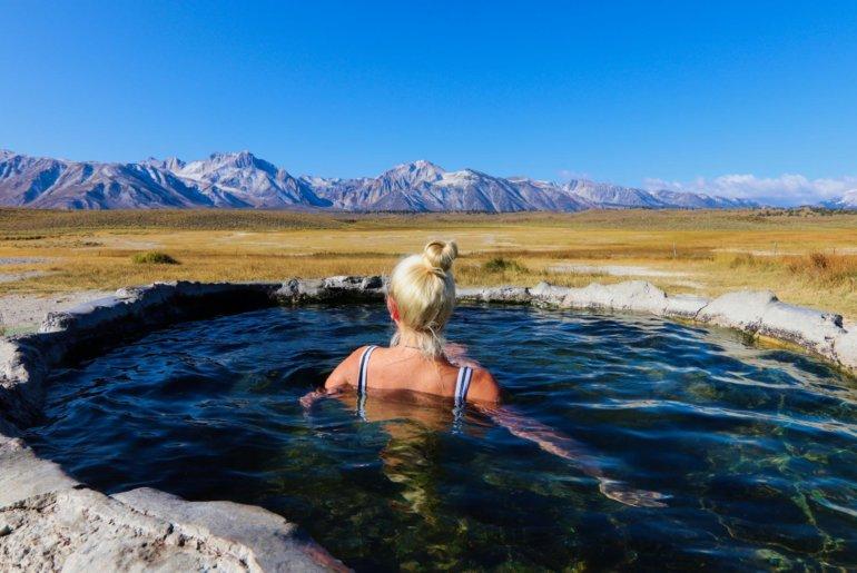 Heiße Quellen in Mammoth Lakes, Kalifornien
