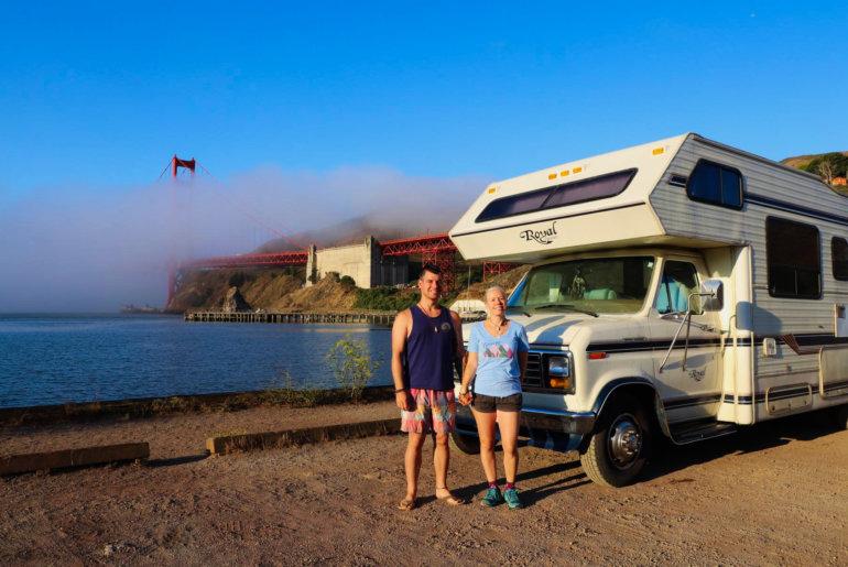 USA Roadtrip Reisebericht | mit dem Van über die Golden Gate Bridge
